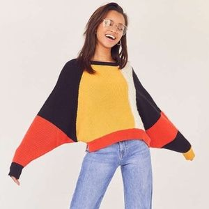 URBAN OUTFITTERS ECOTE COLORBLOCK SWEATER